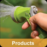 hand holding water hose nozzle