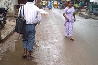 people walking in street india