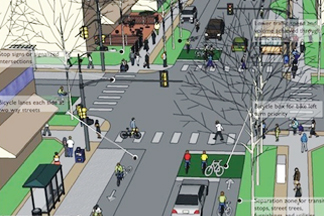 illustration of indianapolis's multimodal corridor and public space design guidelines