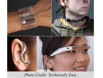 wearable technologies on different parts of the body