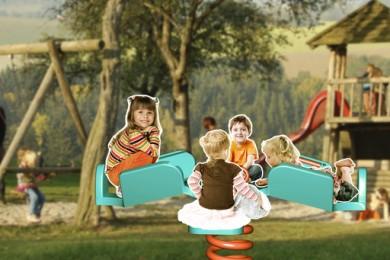 rendering of children on playground
