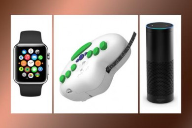 Three of 2015's most intriguing assistive technology breakthroughs – the Apple Watch, 6dot Braille Label Maker and Amazon Echo