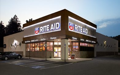 exterior view of rite aid store