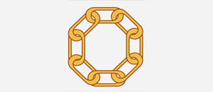 infographic of a chain linked in the shape of an octogan