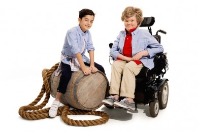 children with disabilities wearing tommy hilfiger clothing in a clothing advertisement
