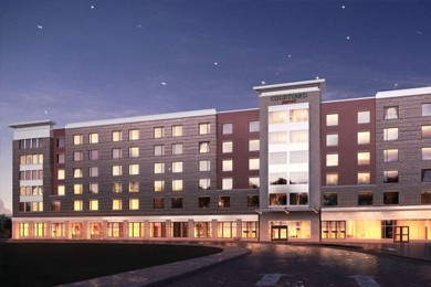 exterior view of courtyard by marriott hotel