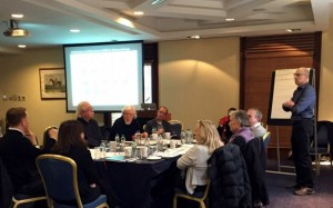 Dr. Edward Steinfeld conducting a workshop in Dublin, Ireland for UD educators and clients.