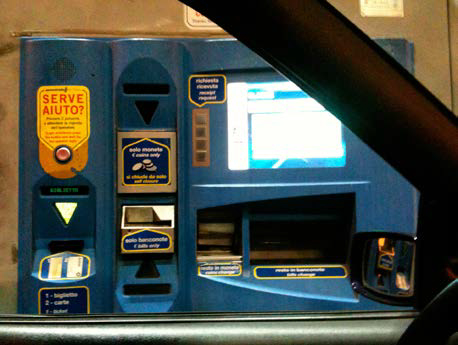 highway ticket machine, Italy