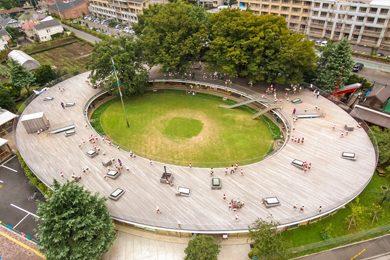 aerial view of Fuji Kindergarten in Tokyo