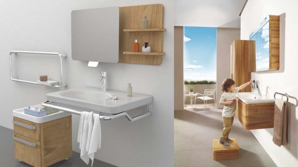 interior rendering showing accessible bathroom features