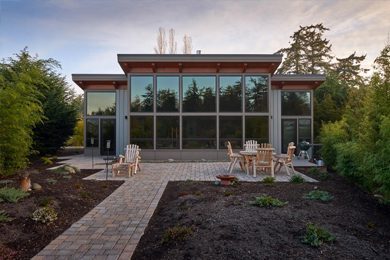 A prefab house in the Pacific Northwest
