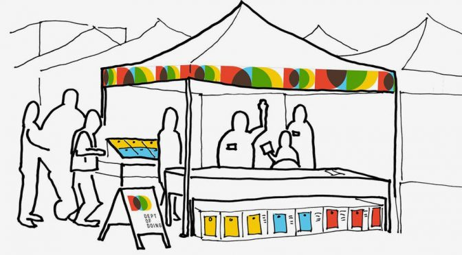 sketch of farmers market stand